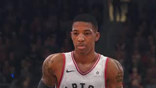 NBA LIVE 18: Hornets Vs Raptors - 8 Min Quarters FULL GAME