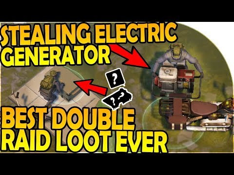 STEALING a ELECTRIC GENERATOR - BEST DOUBLE RAID LOOT EVER - Last Day On Earth Survival 1.7.2 Update