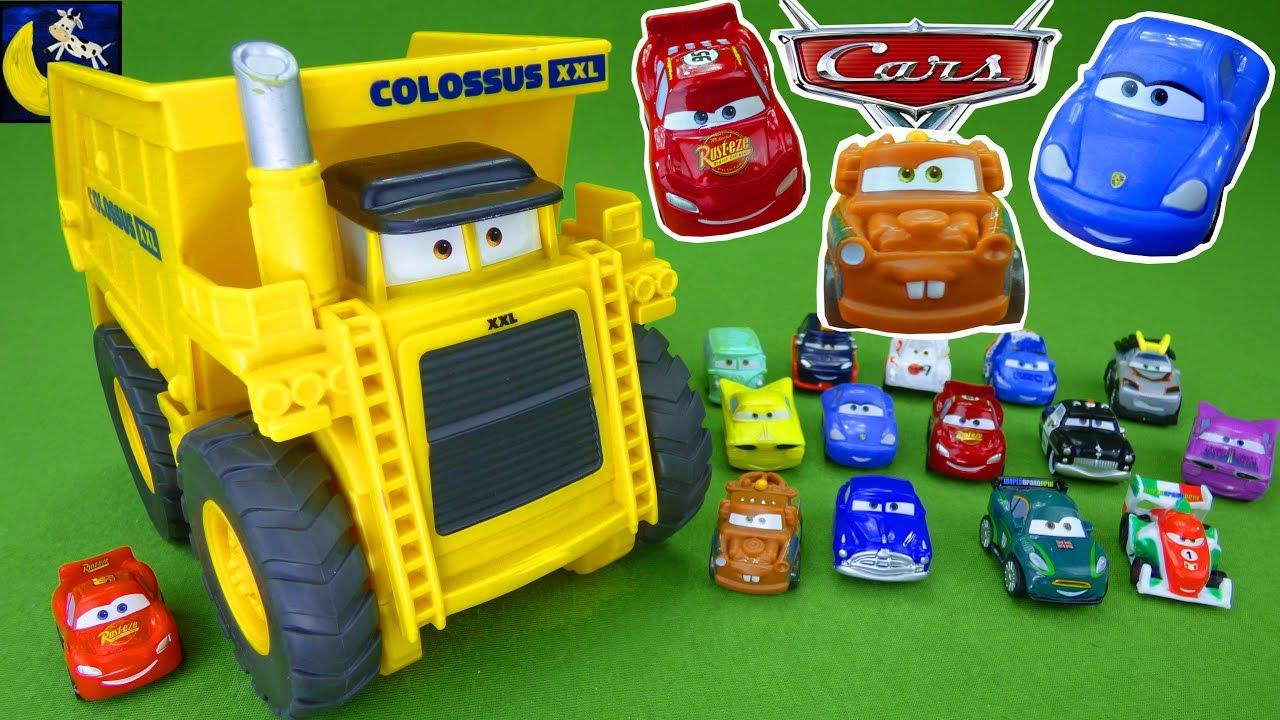 Rare Disney Cars Toys Micro Drifters Colossus Xxl Dump Truck Tow