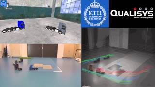 Platooning [4 Trucks] Qualisys Track Manager [experiment 01] {3D Visualization Engine}