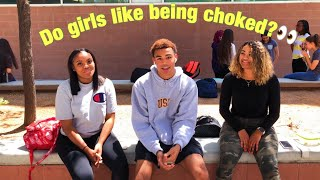 DO GIRLS LIKE BEING CHOKED?👀 | High School Edition 📚 (Public Interview)