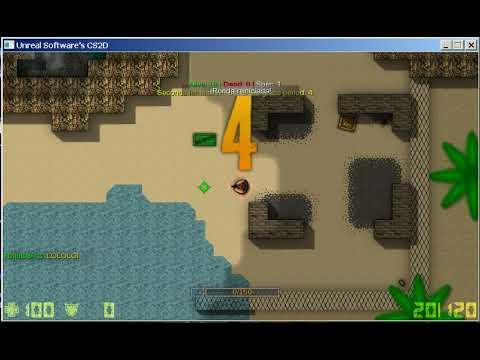 Gameplay de Battle Royale (Fortnite en 2d) CS2D JUEGO GRATIS
