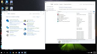 Windows 10: Shortcut key to Control Panel & Program Uninstall