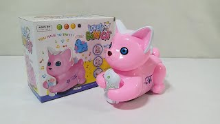 Battery Operated Lovely Baby Cat Toy with Light and Music for Kids.