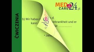 TEST z kursu  języka niemieckiego  Medcare24 ( Lekcje 1-20 )