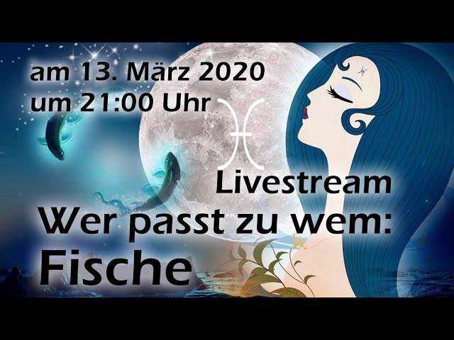 """Livestream mit  Special \""""Wer passt zu wem\: Fische\"""" und Horoskop-Gewinnspiel"""