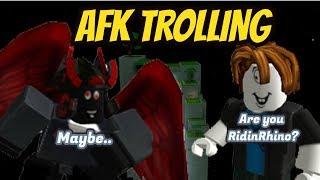 Roblox: AFK Trolling *A FAN RECOGNIZE ME* - Super Power Training Simulator