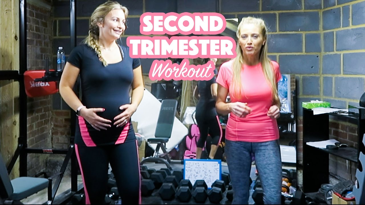 54dc072216aea Pregnancy Workout 2nd Trimester - YouTube