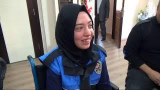 Engelli Büşra'nın hayali gerçek oldu