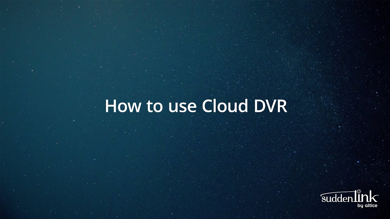 How To: Altice One Cloud DVR