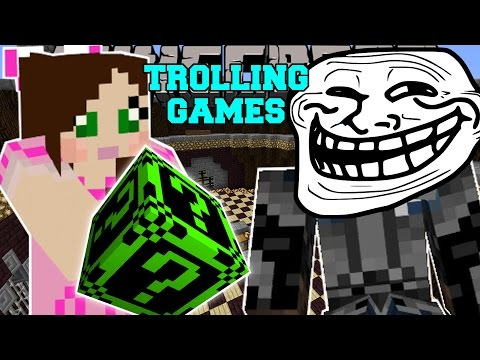 Minecraft: CREEPYPASTA TROLLING GAMES - Lucky Block Mod - Modded Mini-Game