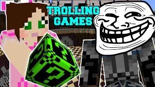 Minecraft: CREEPYPASTA TROLLING GAMES - Lucky Block Mod - Modded Mini-Game