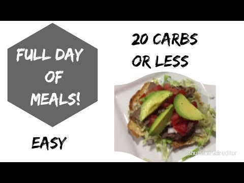 Full Day LOW CARB Eating20 CARBS OR LESS