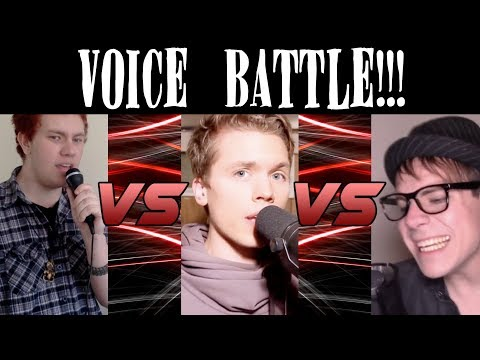 VOICE BATTLE!!! Black Gryph0n VS Cheesy Tube vs RoomieOfficial