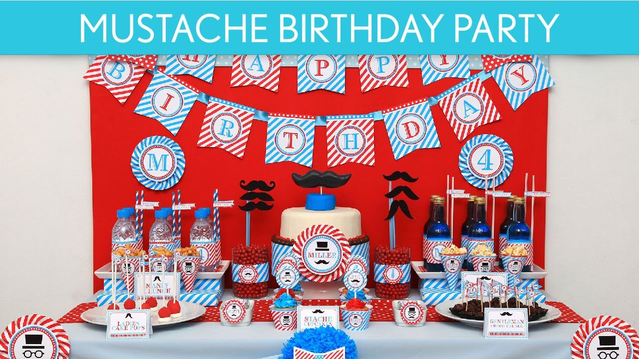Mustache Bash Little Man Birthday Party Ideas