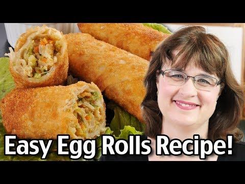How To Make Egg Rolls Easy Egg Roll Recipe!