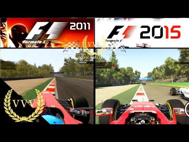 F1 2011 Vs F1 2015 Monza