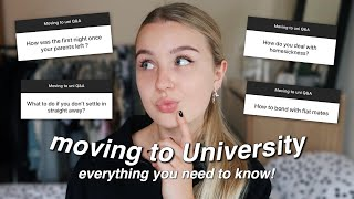 Moving to University Q&A | everything you need to know as a first year
