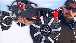 RC ADVENTURES - BLACK WiDOW BiTES the SNOW & iCE in a WiNTER WoNDERLAND! HAPPY HOLiDAYS!
