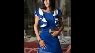 Gepur Платье №11392(Женственное платье с без рукавов с воланами и V-образным вырезом на спине. Широкий ворот лодочкой красиво..., 2015-07-18T15:25:41.000Z)