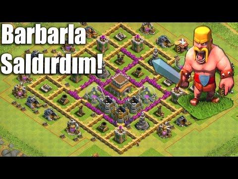 Clash Of Clans Saldırı Stratejileri #5: Barbar