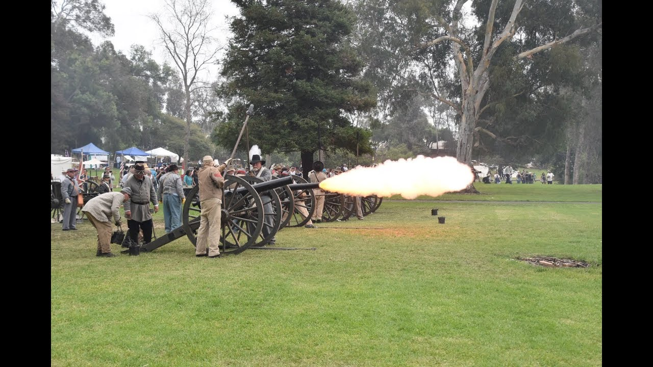 Battle Reenactment during Civil War Days in Huntington Beach (2018)