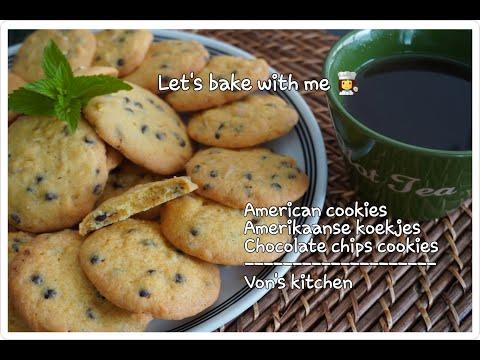 american-cookies-recipe-||-amerikaanse-koekjes-||-chocolate-chips-cookies-||-vk44-#americancookies