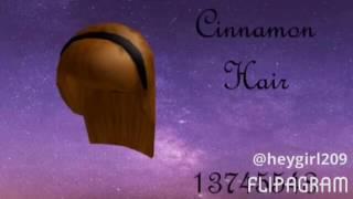 roblox cinnamon hair id