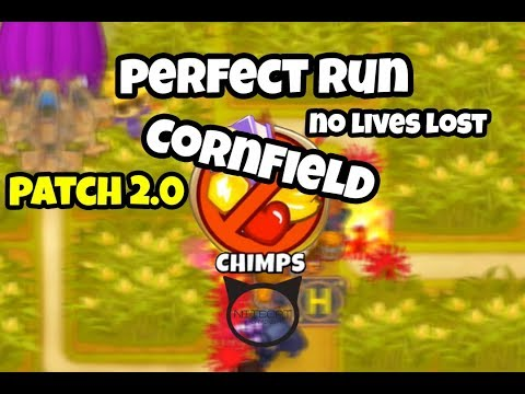 Bloons TD6 Cornfield CHIMPS Mode Perfect Run