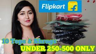 Flipkart Tops & Shrugs Under Rs. 250-500 Only / Flipkart Tops Haul under 500 #Anantmayabeauty