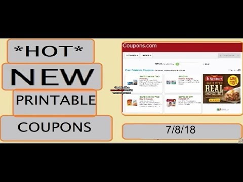 *HOT* New Printable Coupons!!!- 7/8/18