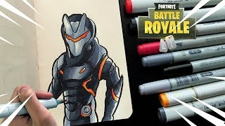 Drawing OMEGA | Fortnite Battle Royale Copic Illustration |
