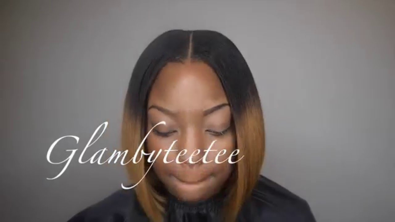 Beautee Lounge Middle Parting Leave Out Bob Youtube
