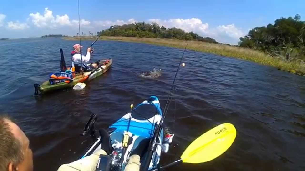 Kayak fishing in yankeetown florida youtube for Kayak fishing florida