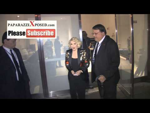 Joan Rivers leaves All Star Celebrity Apprentice Finale in New York and talks about Trace Atkins win