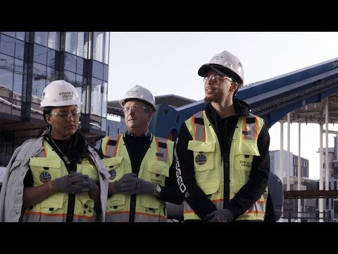 Warriors All-Star Guard Stephen Curry Tours Chase Center