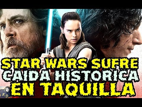 STAR WARS LOS ULTIMOS JEDI CAIDA HISTORICA EN TAQUILLA - THE LAST JEDI BOX OFFICE MOJO