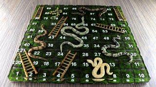 How to Make Snąke and Ladder Game | Resin Art | Diorama