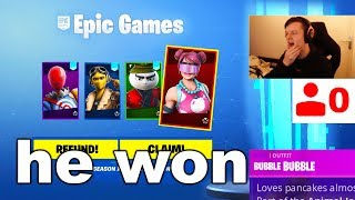 I Gifted SKINS To Fortnite STREAMERS with 0 VIEWERS