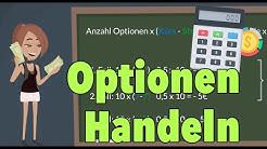 Optionen handeln - Beispielrechnung Call-Option und Put-Option