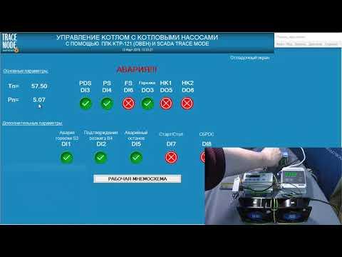 Быстрая автоматизация водогрейного котла с ОВЕН ПЛК КТР121