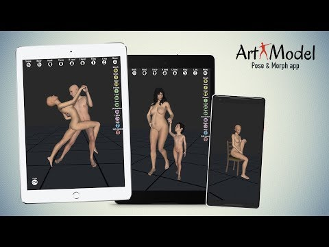Art Model app v1.3 preview - Best 3D pose tool with morphing capabilities (Android, iOS, macOS)