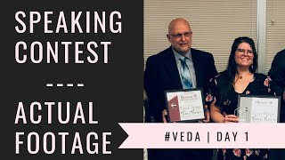 I competed in the Toastmasters International Speech Contest | VEDA Day 1