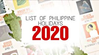 2020 Philippine Holidays | List Of Philippine Holidays In 2020