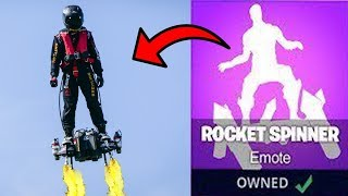 *NEW* LEAKED ROCKET SPINNER DANCE IN REAL LIFE! NEW FORTNITE EMOTE!