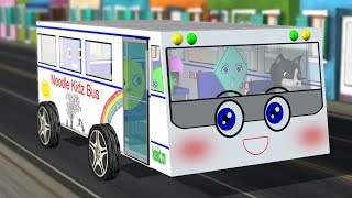 Wheels On The Bus Song with Baby Shapes | Noodle Kidz Nursery Rhymes
