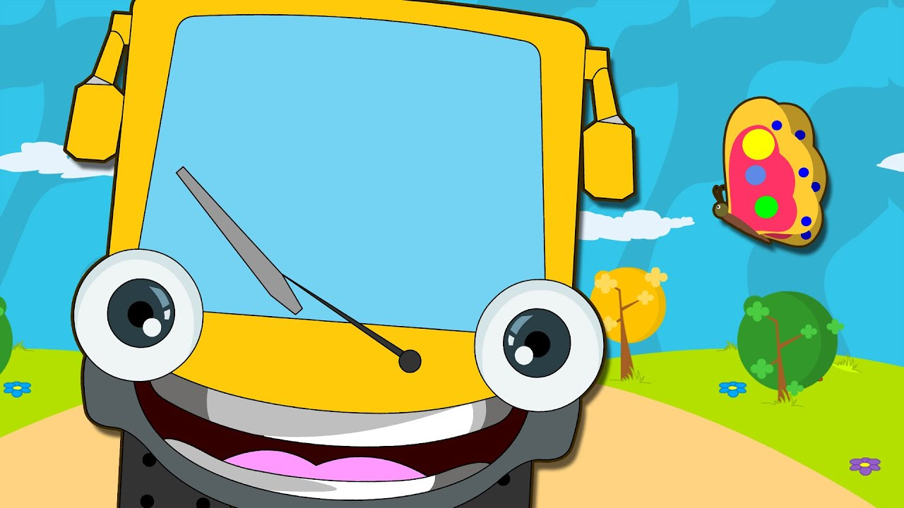 Wheels On The Bus Go Round And Nursery Rhymes For Children Hooplakidz You