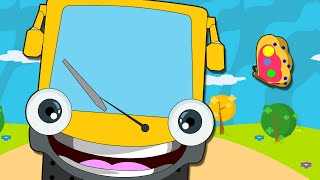 Wheels On The Bus Go Round And Round | Nursery Rhymes for Children | HooplaKidz thumbnail