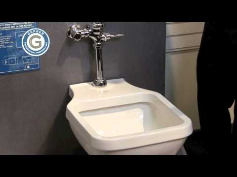 gerber north point flushing rim sink