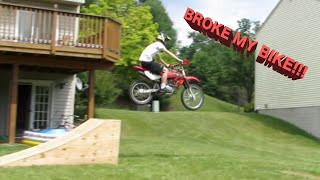 Homemade Dirt bike Kicker!!!